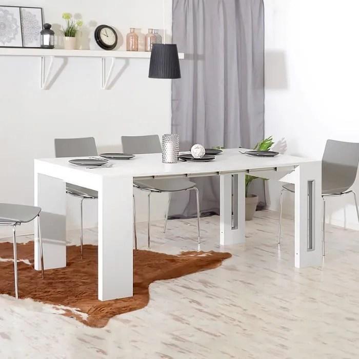 table extensible avec rangement rallonges