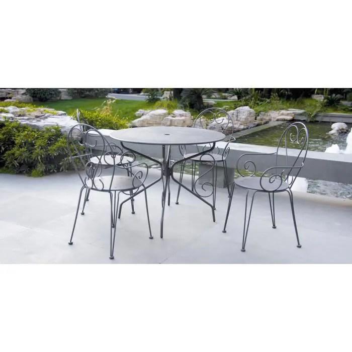 table ronde 4 fauteuils