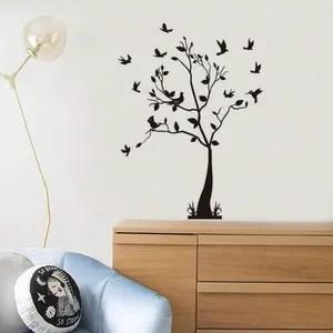 sticker mural chambre nature arbre zen