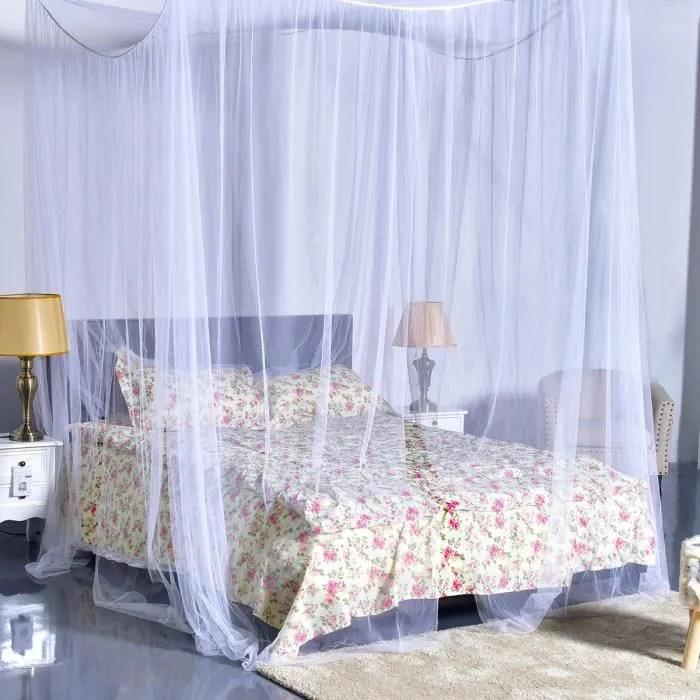 costway moustiquaire de lit baldaquin pour lit dou