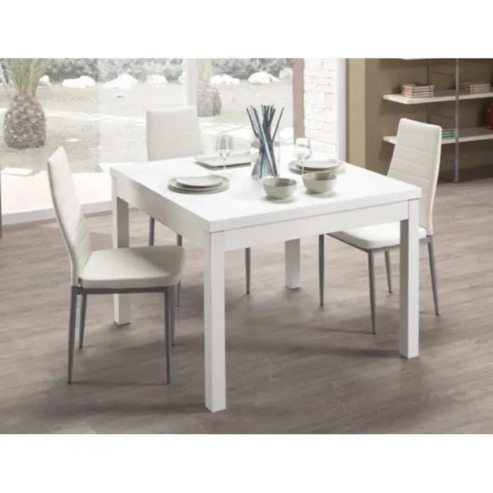 table carree extensible firenze avec frene blanc 90 181
