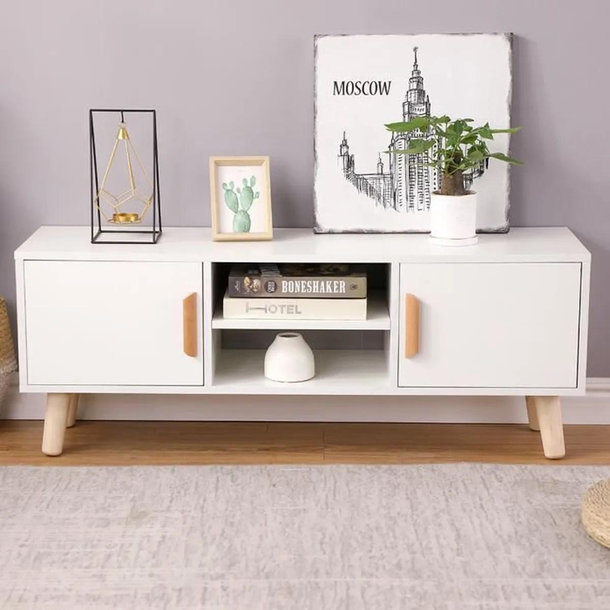 meuble bas salon blanc