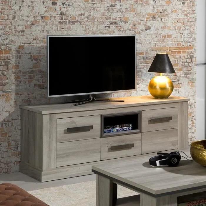 meuble tele 155 cm coloris chene clair philippine