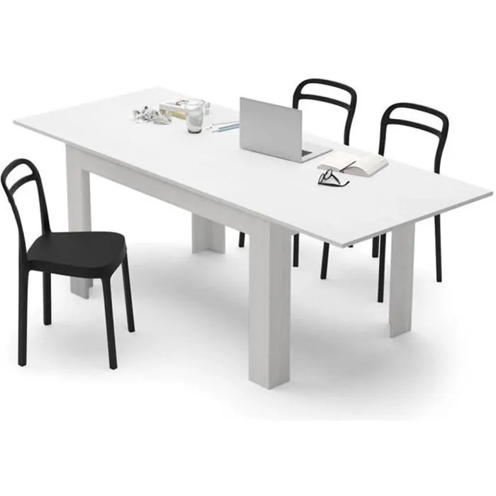mobili fiver table extensible cuisine easy frene blanc melamine made in italy