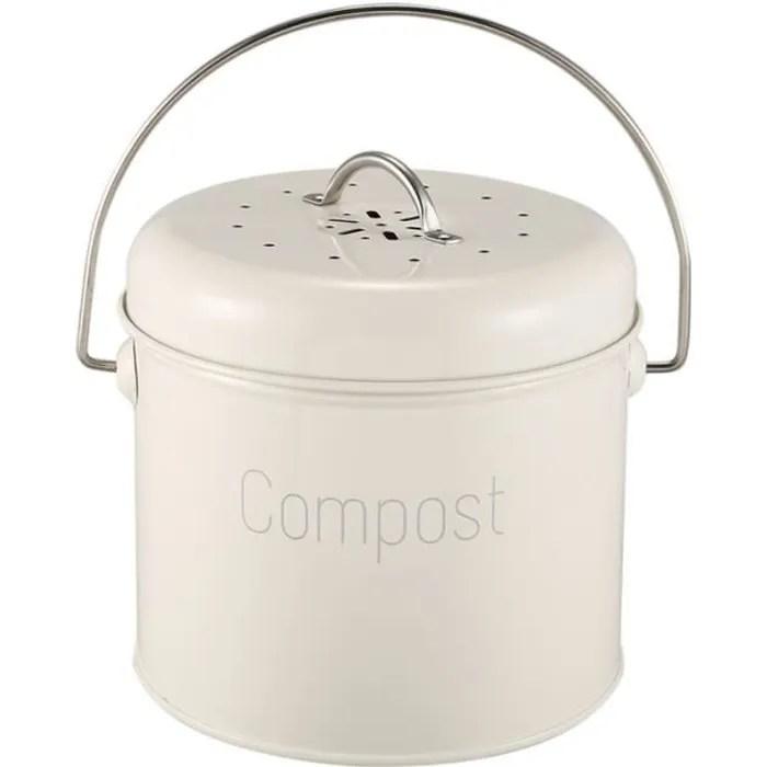 poubelle a compost 3l bac a compost de cuisine en acier inoxydable composteur de cuisine pour dechets alimentaires filtre