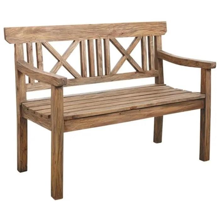 banc de jardin 2 places en bois naturel