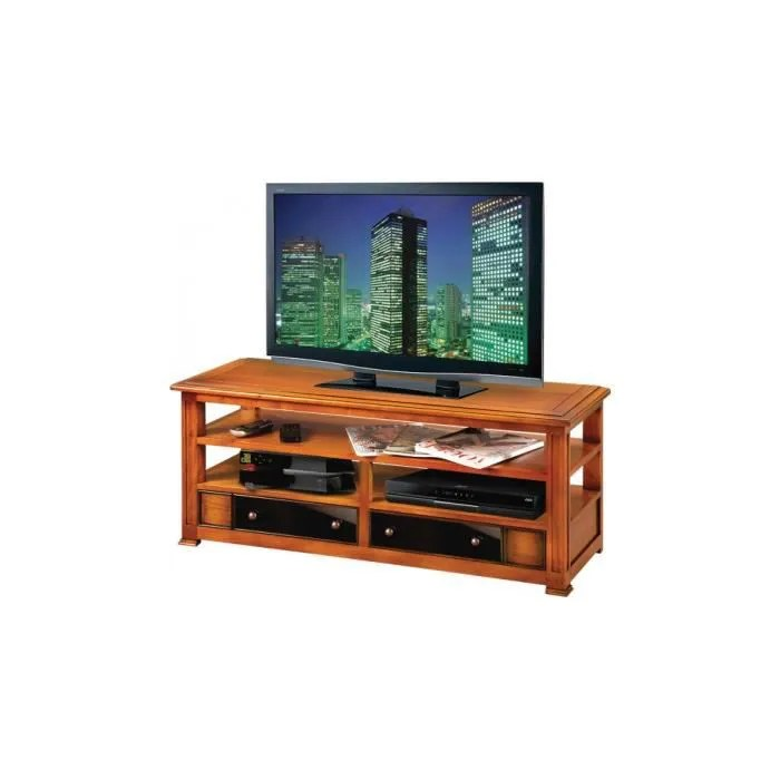 meuble tv hifi merisier massif 2