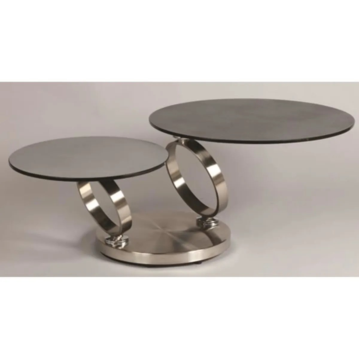 table basse 2 plateaux verre