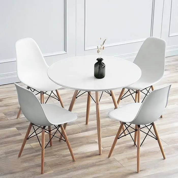 2 a 4 personnes table a manger ronde scandinave