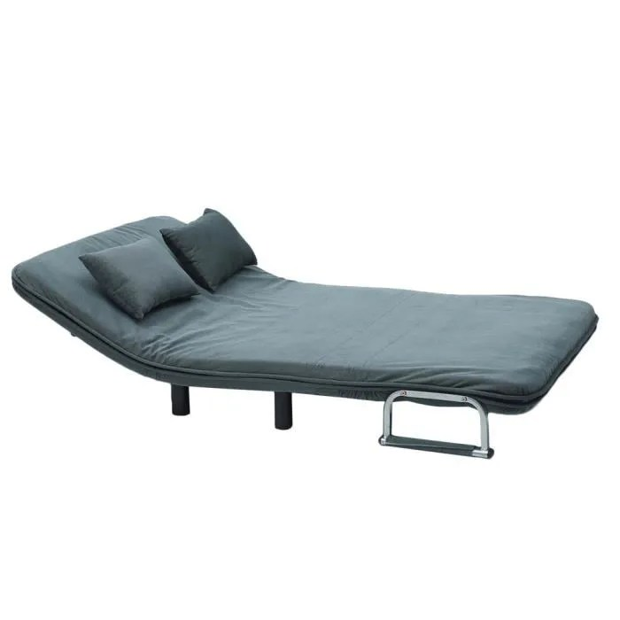 Canape Lit Pliant 2 Places Ultra Comfortable 120x190x26cm Bleu Achat Vente Canape Sofa Divan Cdiscount
