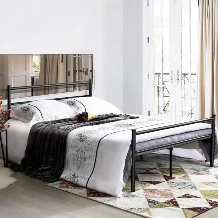 aingoo lit double en metal 140 x 190 cm