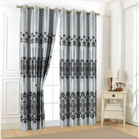 rideaux occultant 140 x 260 cm avec