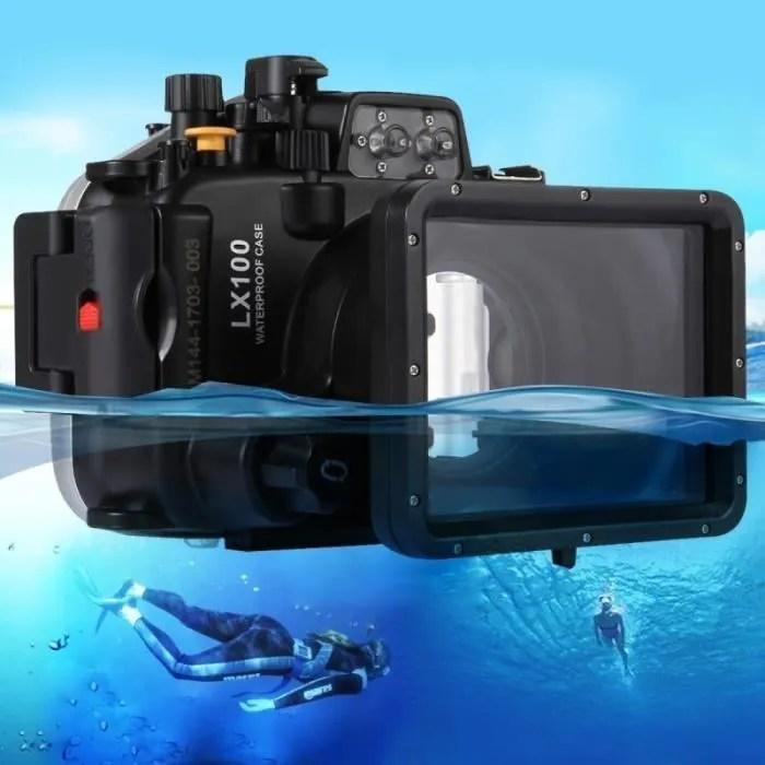 caisson etanche appareil photo 40m sous marine profondeur de cas plongee panasonic lumix dmc lx99