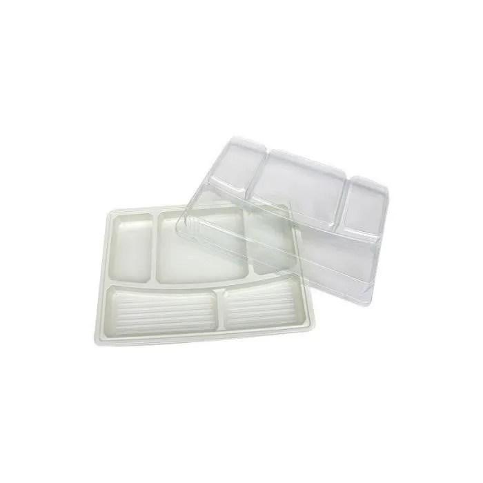 plateaux repas 5 compartiments en plastique ps polystyrene fond beige 342x242 mm qualite et modularite sont les principaux