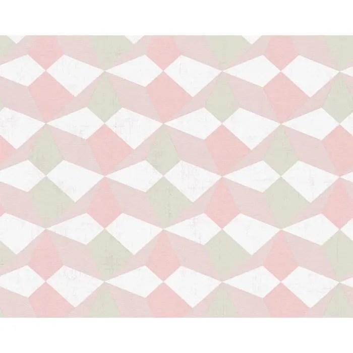 papier peint origami scandinave beige saumon kaki 10 ml x 0 53 m