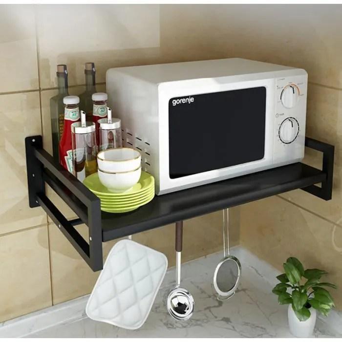 support de four a micro ondes mural pour etagere de cuisine support de stockage 53 38 cm