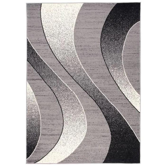tapis gris argent