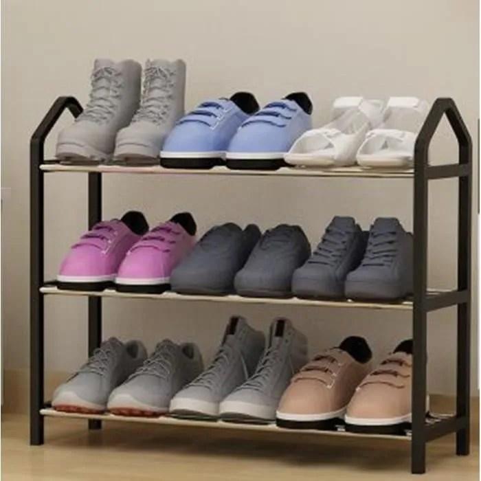 etagere range chaussures 9 paires 63 20 45cm mode salon