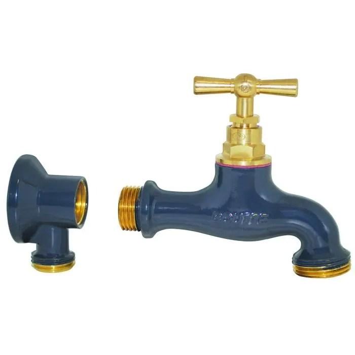 robinet d exterieur et applique assortie en laiton