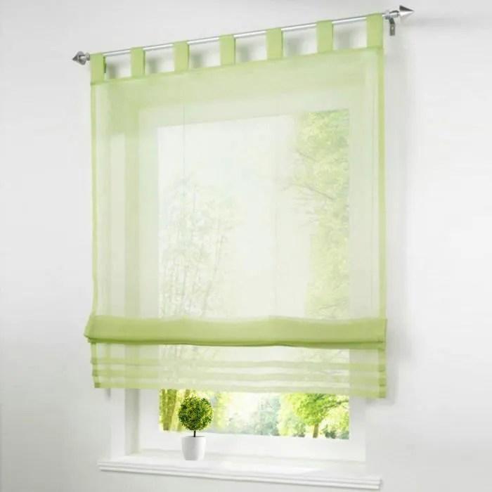 1pc store romain lxh 80x155cm vert rideaux voilage