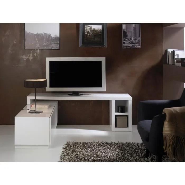 meuble tv modulable aina laque blanc