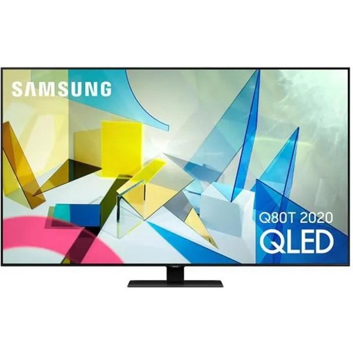 samsung qe75q80t televiseur qled 4k de 189 cm