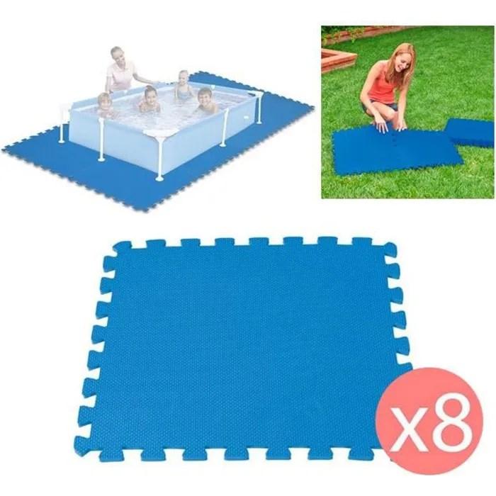 8 dalles tapis de sol modulable pour piscine 50