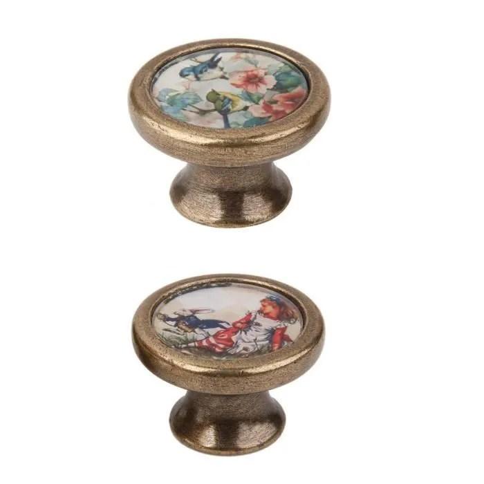 paire de boutons de meuble vintage