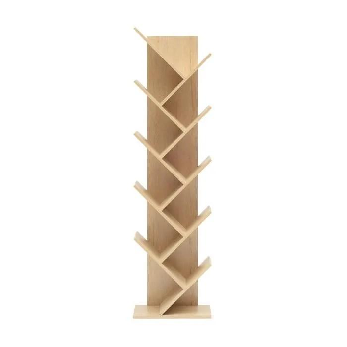 mobili rebecca etageres bibliotheque bois brun cla