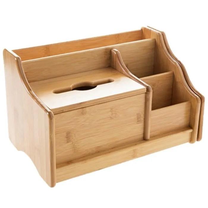 boite de rangement en bambou bibliotheque retractable etagere de bureau bureau papeterie telecommande de stockage en rack boite a