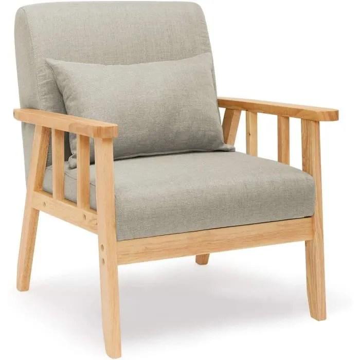 fauteuil salon en bois massif chaise