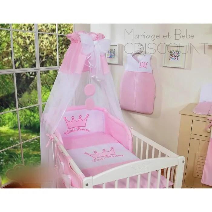 4 pieces ciel de lit tour de lit bebe housses de couette et d oreiller princesse rose 140x70