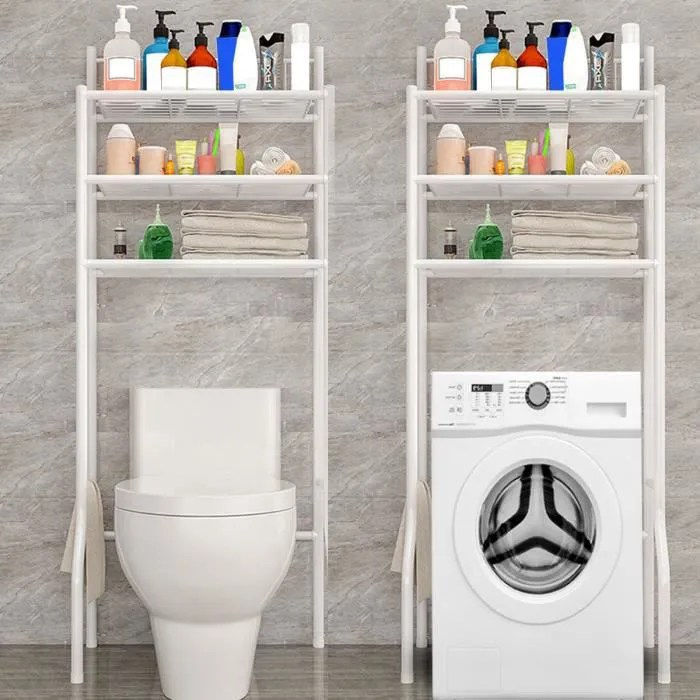 meuble toilette wc etagere dessus stockage pour salle de bain machine a laver