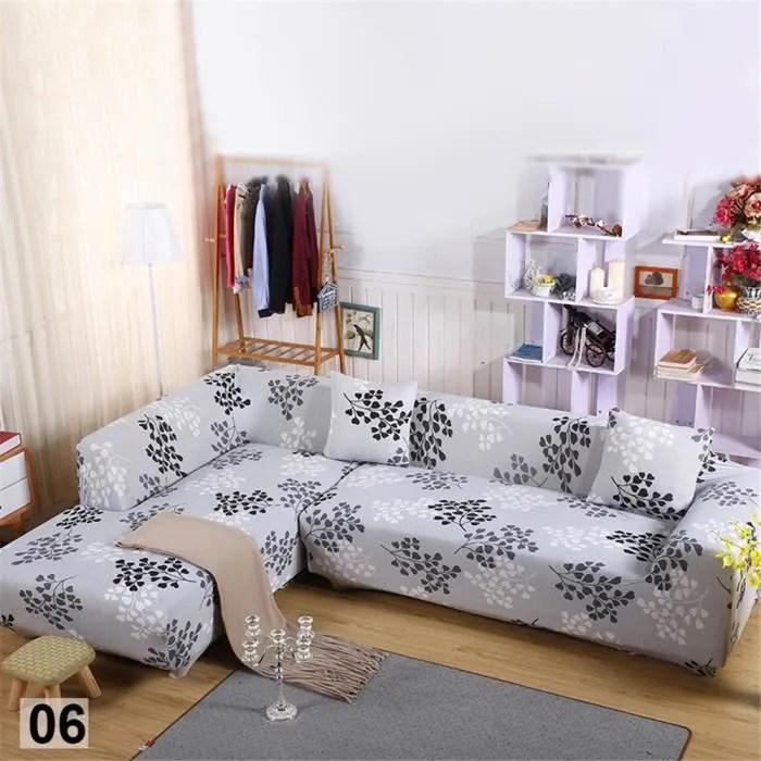housse de canape 4 places avec motifs de forme de