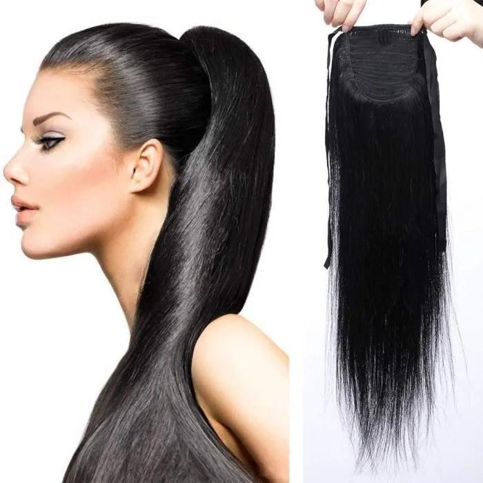 extension cheveux noir lisse