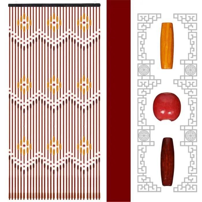 tempsa rideau de porte en perles de bois 90x220c