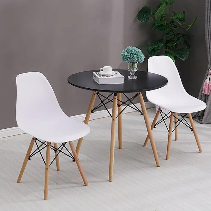 table ronde scandinave noir 2 4 personnes diametre 70cm table pour la cuisine salon