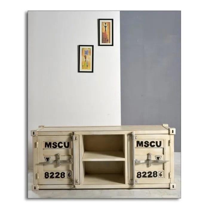 meuble tv 2 portes 2 niches
