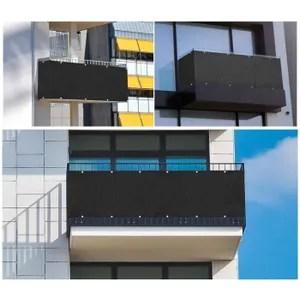 coffre 200x300cm gris brise vent balcon