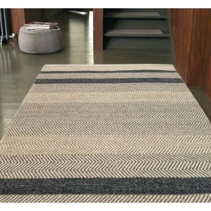novatrend tapis de salon laine et coton campo