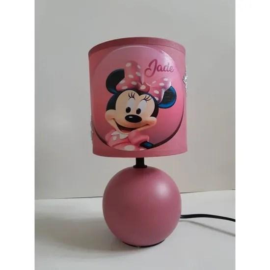 lampe de chevet minnie personnalisable