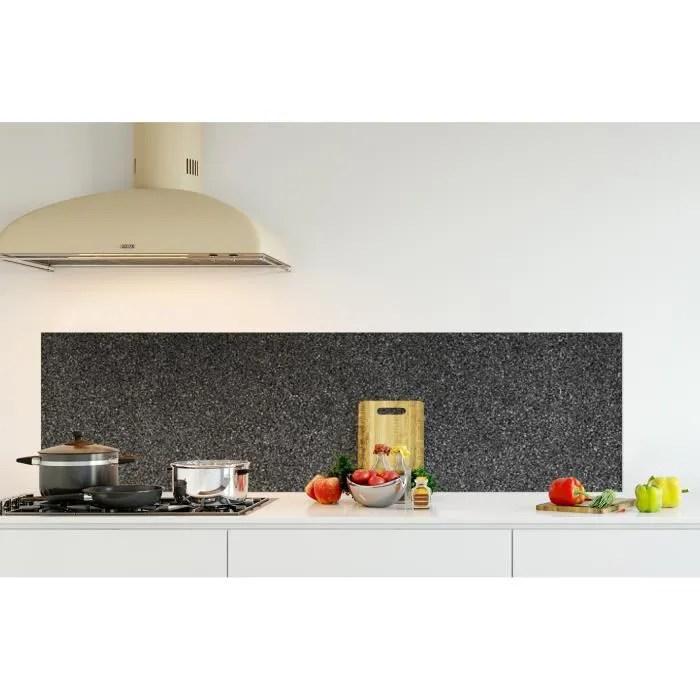 credence de cuisine adhesive en panneau composite aluminium fond de mur noir et gris l 180 x h 50 cm