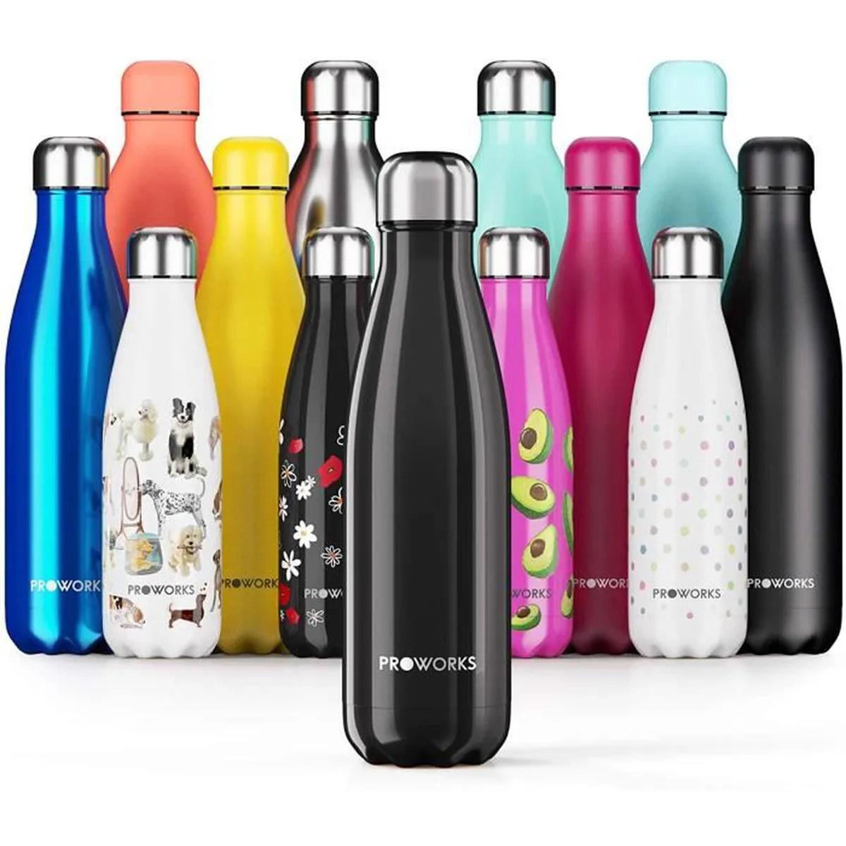 proworks bouteille d eau isotherme