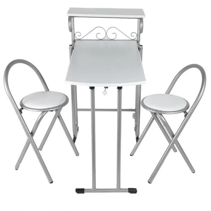 table cuisine pliante avec chaises