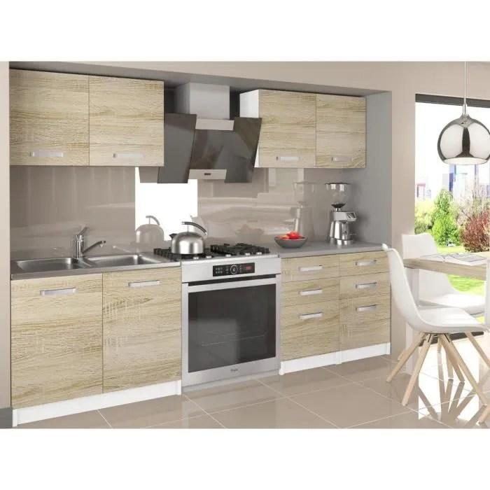 odetta cuisine complete modulaire lineaire l 160 cm 6 pcs plan de travail inclus meubles cuisine sonoma gris