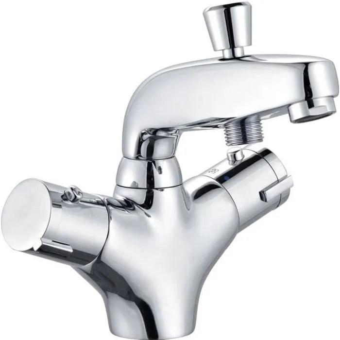 mitigeur baignoire avec douchette thermostatique