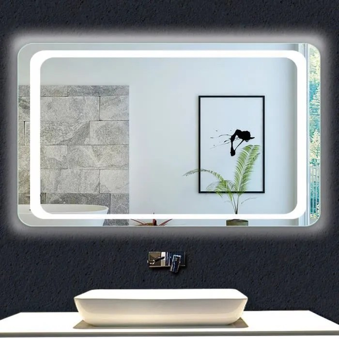 Ocean Miroir De Salle De Bains Avec Eclairage 100x70cm Anti Buee Miroir Mural Led Detecteur Infrarouge Achat Vente Miroir Salle De Bain Miroir De Salle De Bain 100 Cdiscount
