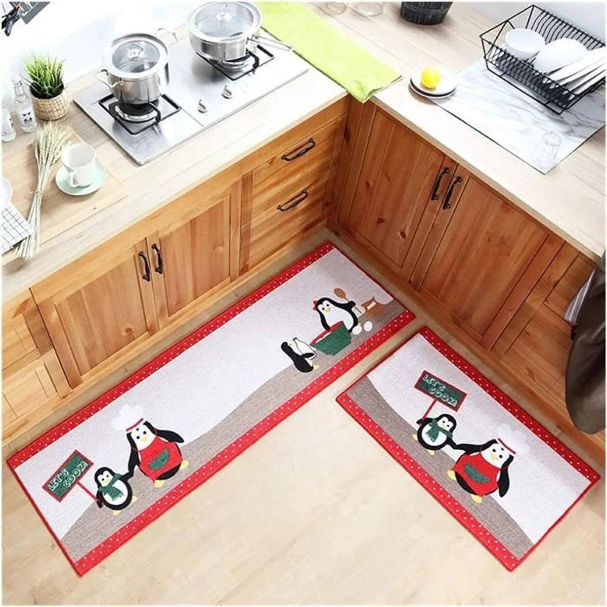 tapis de cuisine devant evier coton
