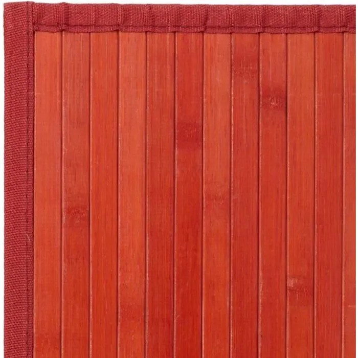 tapis bambou rouge taille 75 x 175 cm