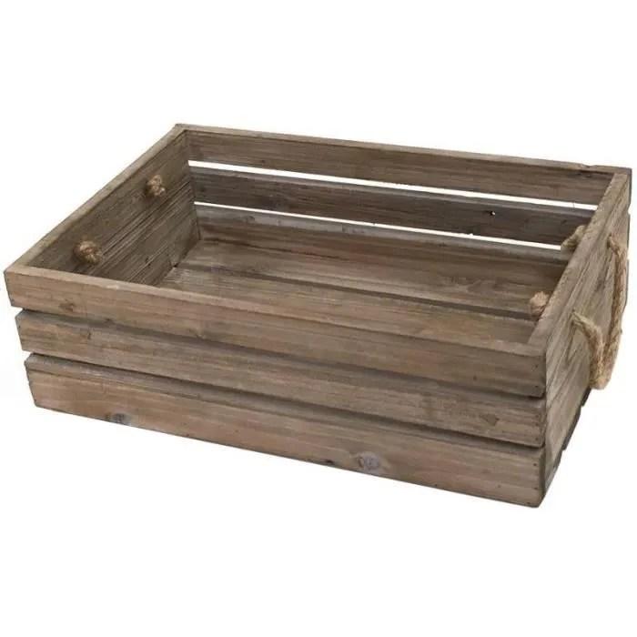 grande caisse casier en bois de cuisine 47x32x14 cm 10535 gm